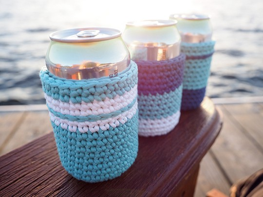 Easy Crochet Can Cozy Pattern