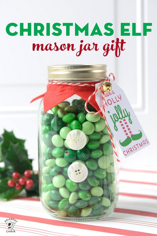 Elf Christmas Mason Jar Gifts