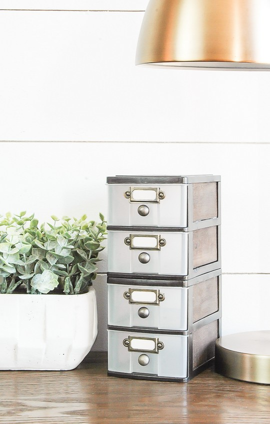 Farmhouse Look With Dollar Tree Storage