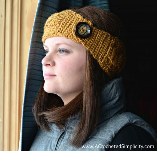 Free Crochet Pattern Chic Cabled Headwarmer