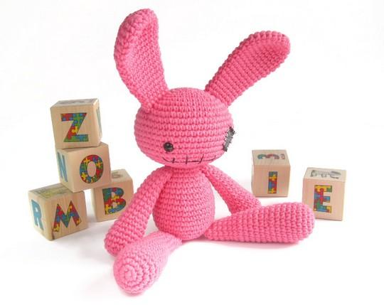Free Crochet Pattern Zombie Bunny