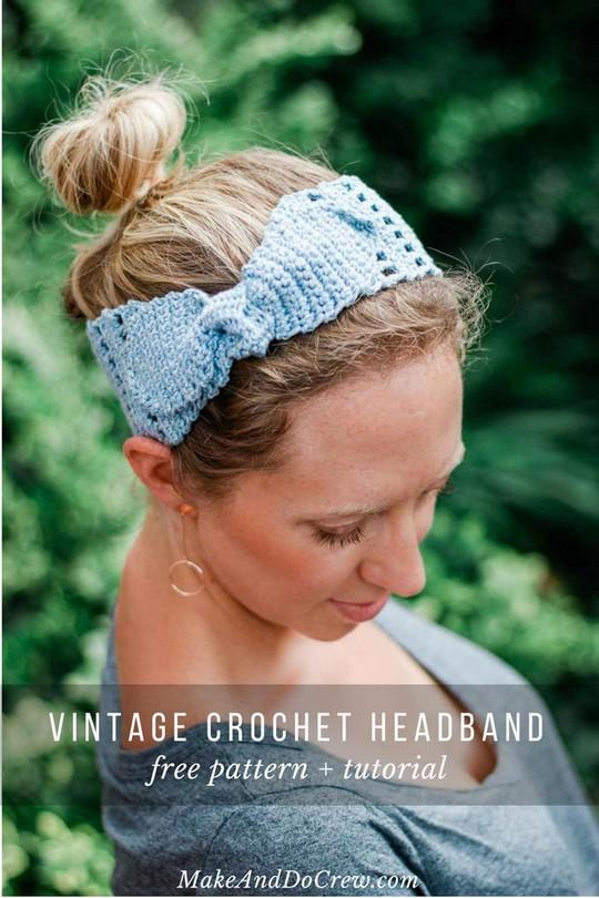 Free Summer Crochet Headband Pattern For Women