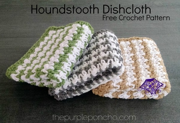 Houndstooth Dishcloth Free Crochet Pattern