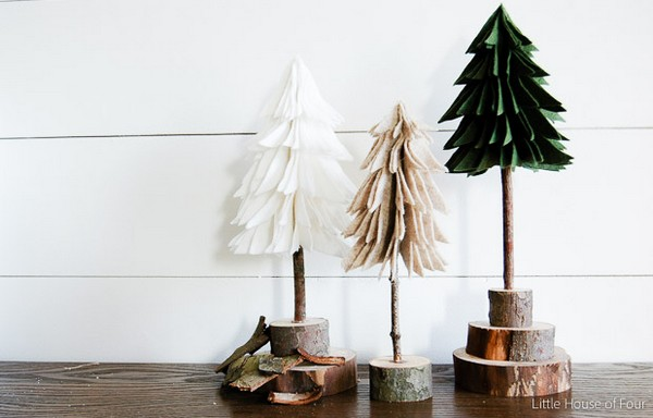 How To Make Diy Rustic Felt Christmas Trees