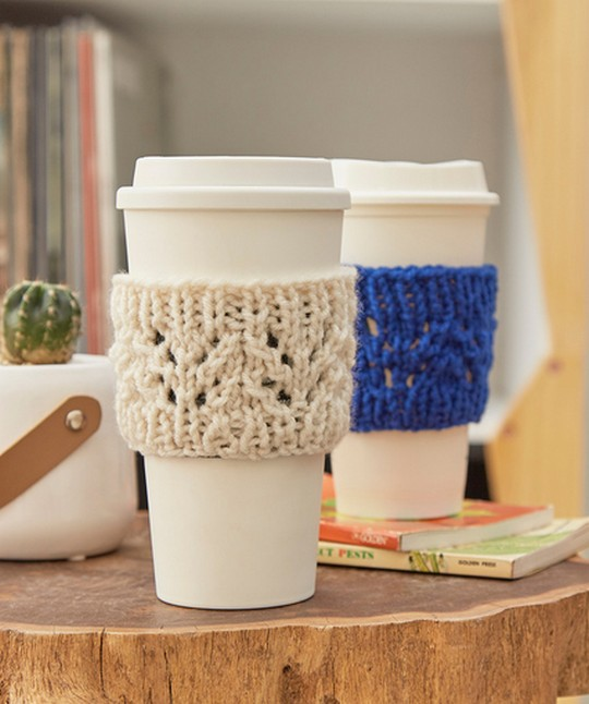 Lacy Knit Cup Cozy