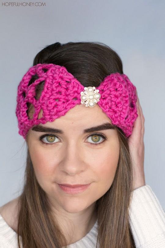Lacy Lattice Headband Crochet Pattern
