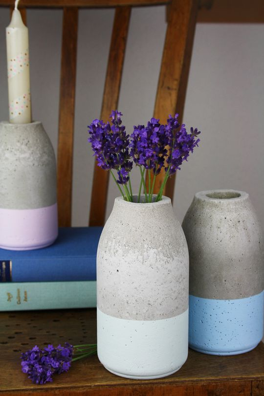 Milk Bottle Mold Concrete Vases