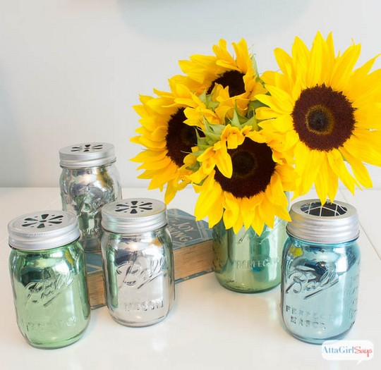 Mirrored Mercury Glass Mason Jars