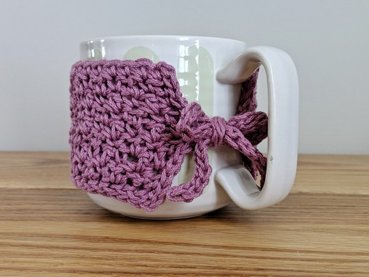 Mug Hugger Coffee Cozy Free Crochet Pattern