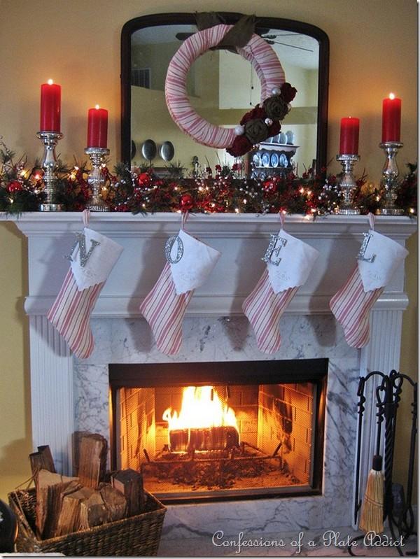 My Farmhouse Christmas Mantel