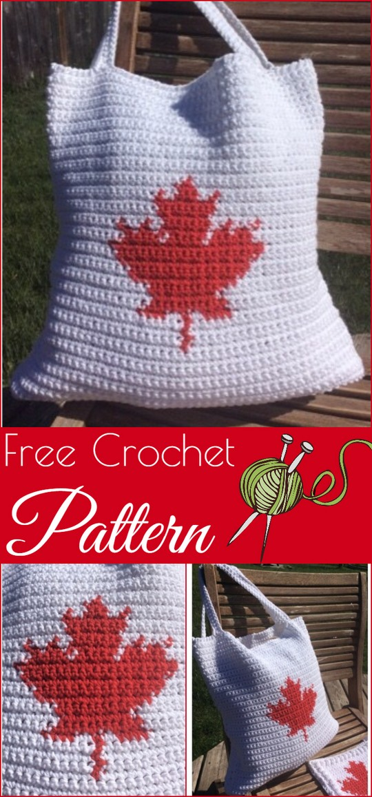 Our Canada Tote Bag Free Crochet Pattern