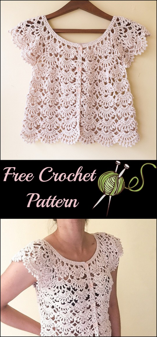 Picot Fan Summer Cardigan