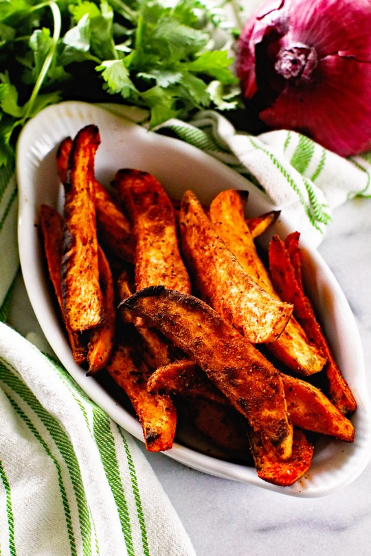 Seasoned Grilled Sweet Potato Wedges