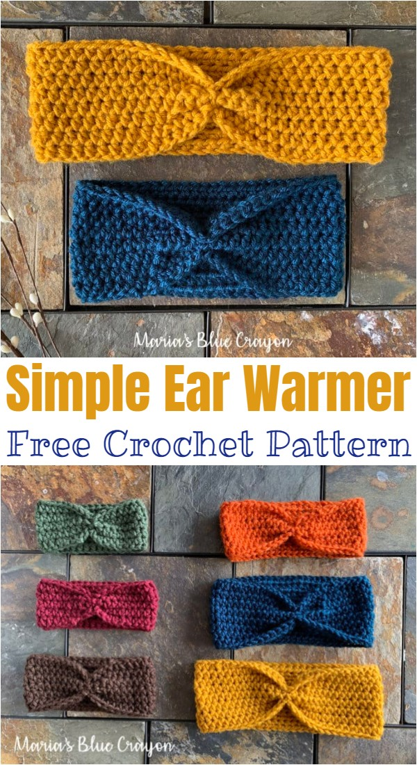 Simple Crochet Ear Warmer