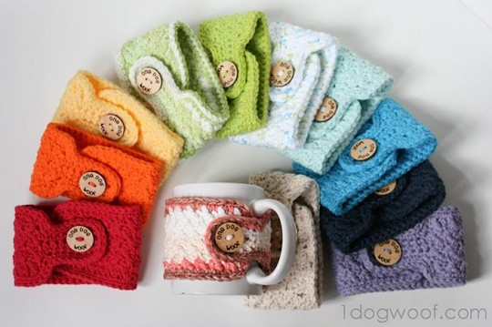 Warm And Toasty Crochet Mug Cozies