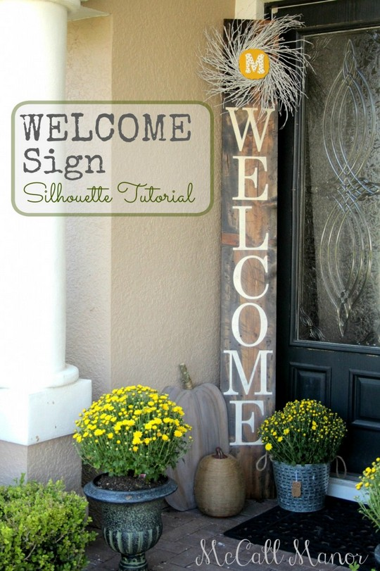 Welcome Sign Using The Silhouette Machine
