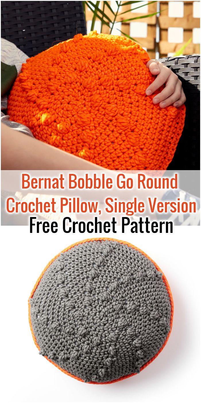 Bernat Bobble Go Round Crochet Pillow, Single Version