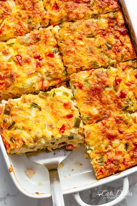 Breakfast Casserole With Bacon Or Sausage