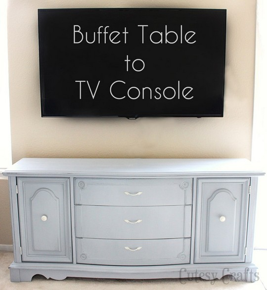 Buffet Table To Tv Console