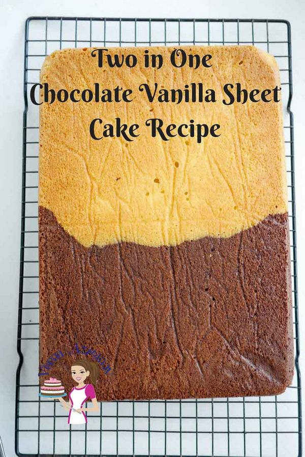 Chocolate Vanilla Sheet Cake
