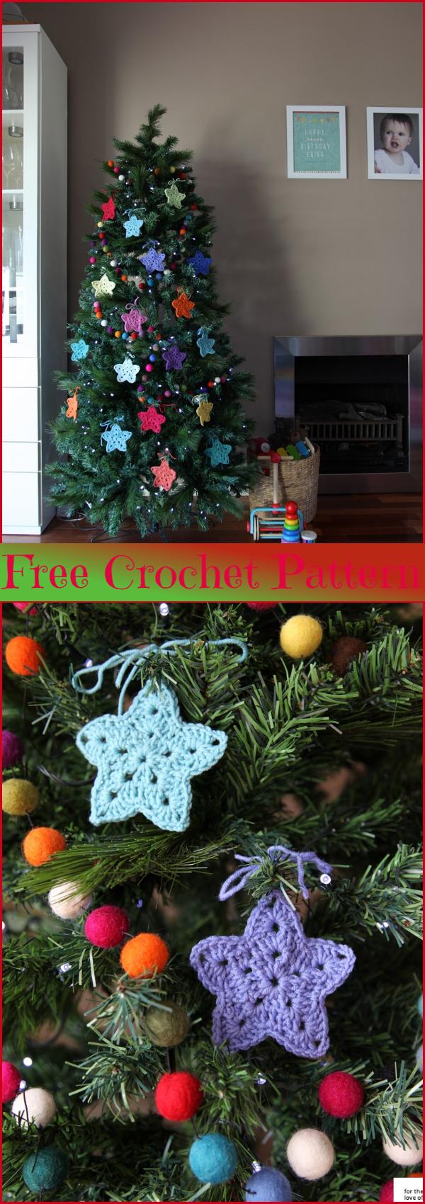 Christmas crochet stars