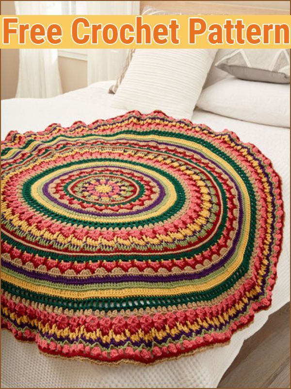 Circular Fall Mandala Throw
