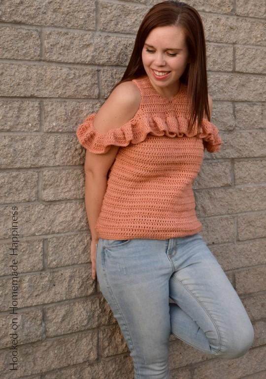 Cold Shoulder Crochet Top Pattern