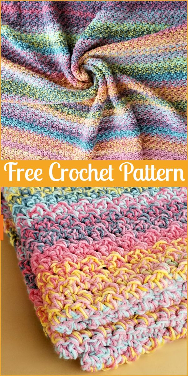 Color Kaleidoscope Crochet Blanket Pattern