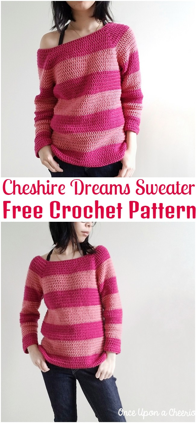 Crochet Cheshire Dreams Sweater