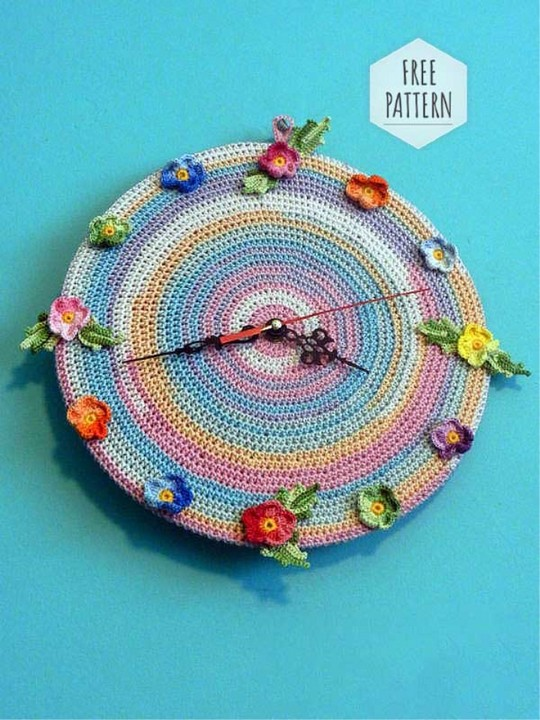 Crochet Clock Free Pattern