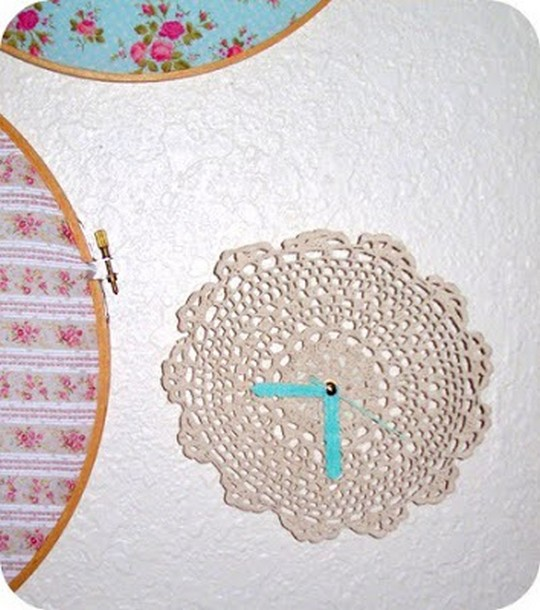 Crochet Doily Turned To A Wall Clock