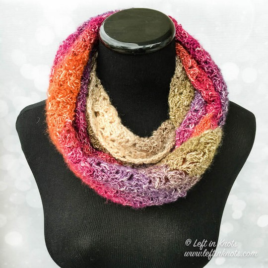 Crochet Eventide Infinity Scarf A Free One Skein Pattern