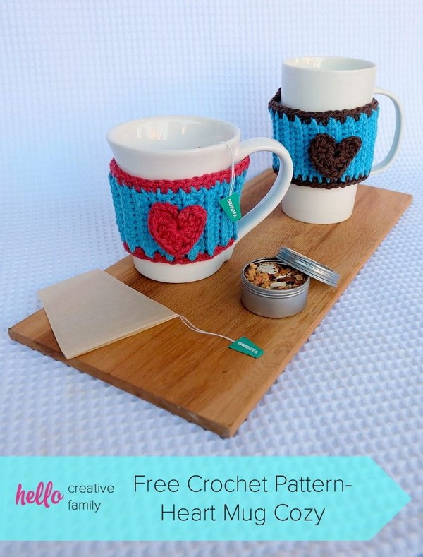 Crochet Heart Mug Cozy Pattern Perfect