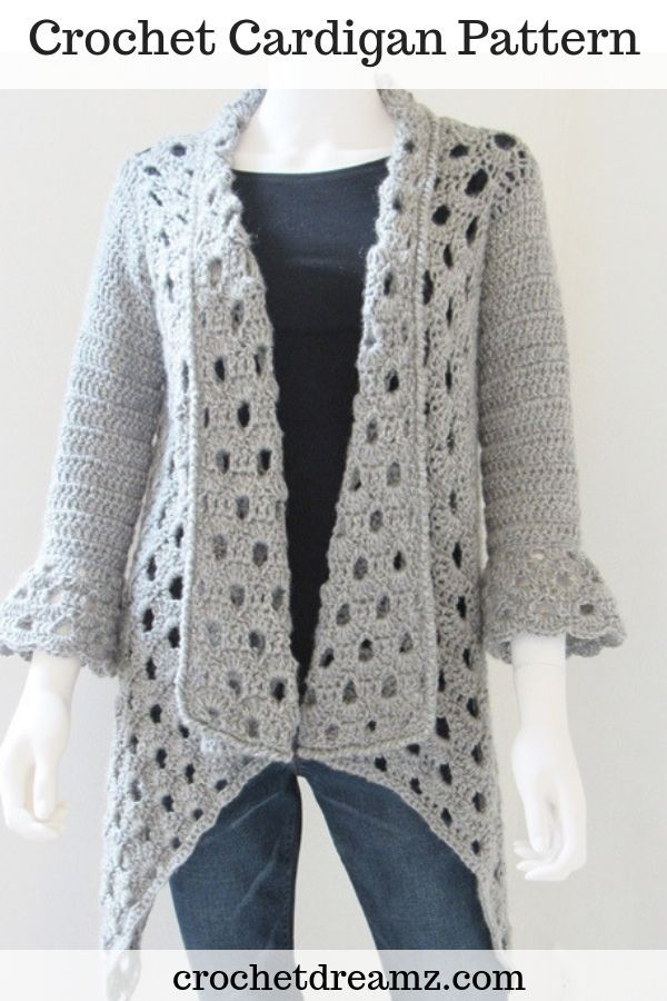 Crochet Patterns Jacket This gorgeous crochet cardigan pattern