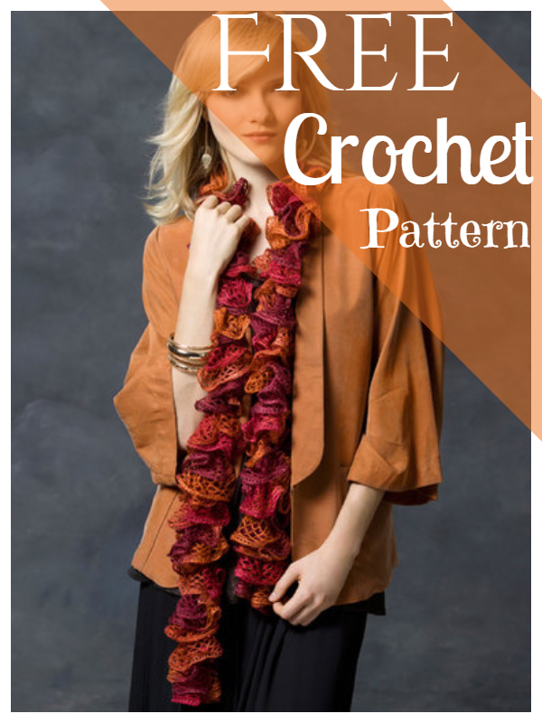 Crochet Scarf Pattern Frilly