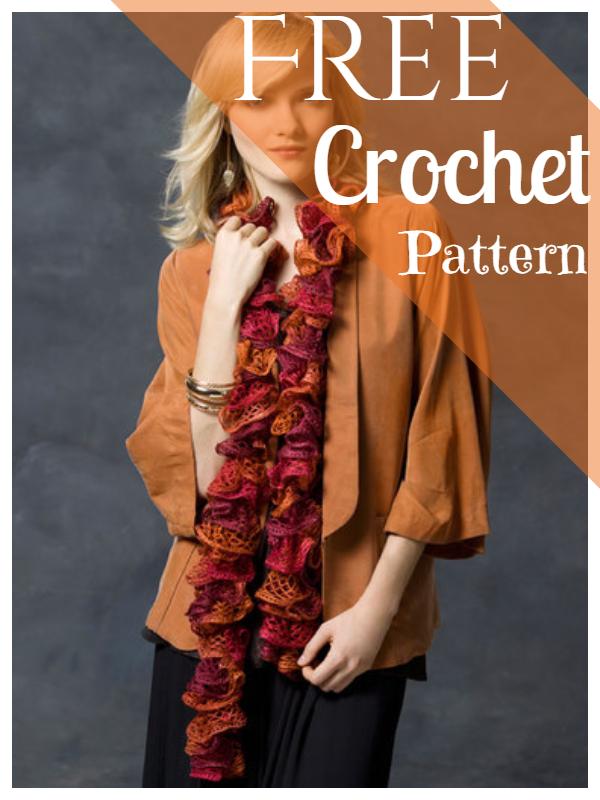 Crochet Scarf Pattern Frilly