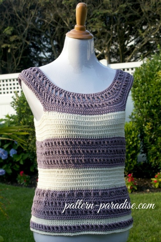 Crochet Striped Summer Tank Top