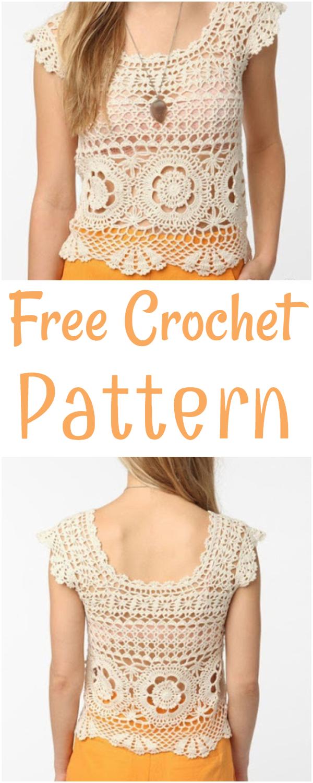 Crochet Summer Top Tunics Blouse Free Pattern