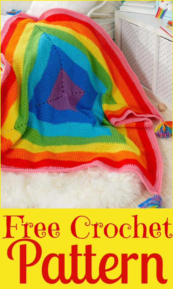 Crochet-a-Rainbow Blanket