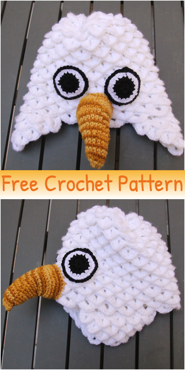 Crocheted Crocodile Stitch Eagle Hat For Purim