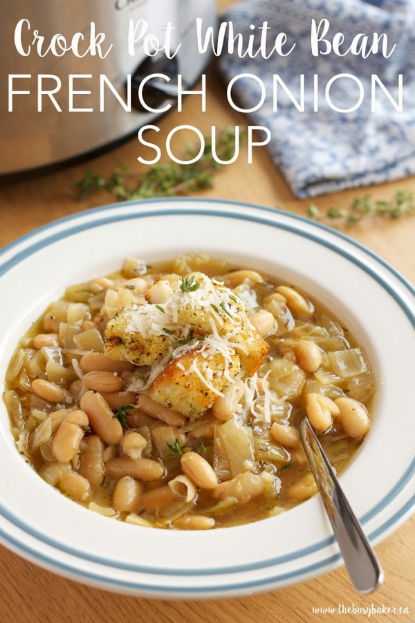 Crock Pot French Onion Soup With White Beans