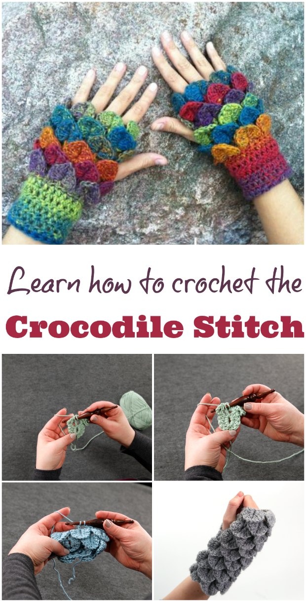 Crocodile Stitch Crochet Stitch