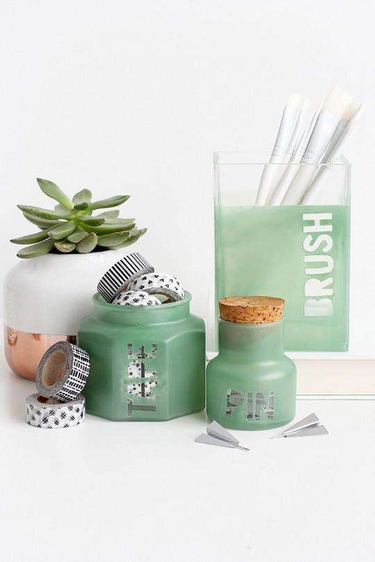 DIY Sea Glass Supply Jars