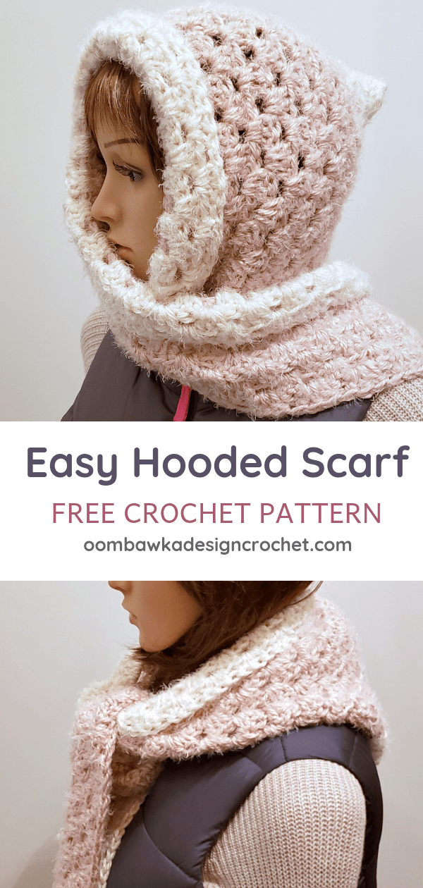 Easy Hooded Scarf Pattern