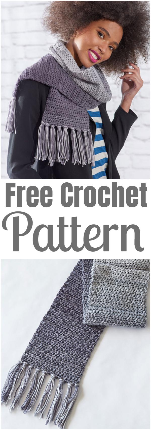 Easy Ombre Crochet Scarf