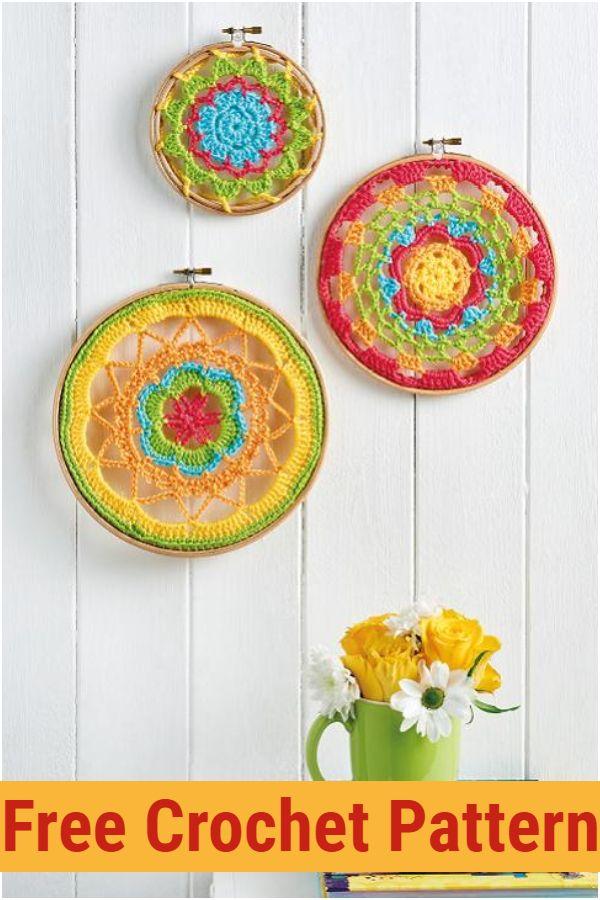 Embroidery Hoop Mandalas