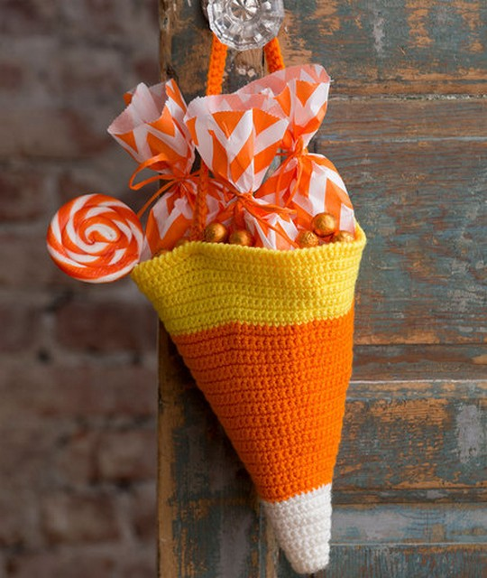 Free Crochet Candy Corn Bag