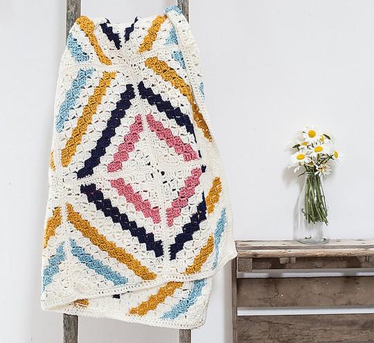 Free Crochet Cedar River Blanket