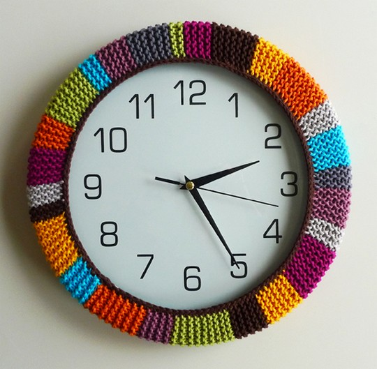 Free Crochet Colorful Clockwork