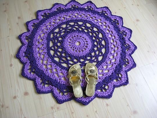 Free Crochet Doily Rug